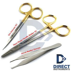 Professional Suture Removal Kit Tc Mayo Hegar Needle Holder Surgical Scissors Ce