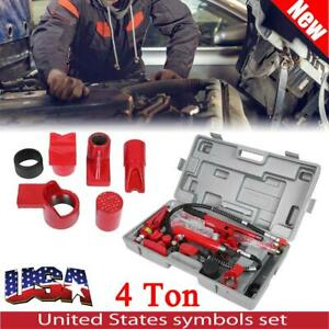 4 Ton Porta Power Hydraulic Jack Body Frame Repair Kit Tools With Case