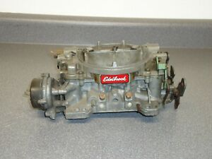 Edelbrock 1410 4 barrel Carburetor Carb Core 750 Cfm Electric Choke Marine Boat