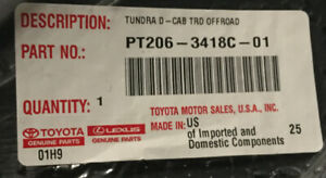 Toyota Tundra Double Cab Trd Offroad Floor Mats Oem Pt206 3418c 01 Brand New