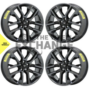 20 Ford Mustang Black Chrome Wheels Rims Factory Oem 20x9 Set 4 10039