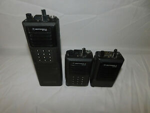 Motorola Uhf Dtmf Mt1000 16 Channel Scan Portable Radios Analog Lot Of 3 Units