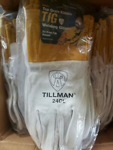 Tillman 24cl Large Tig Welding Gloves Top Grain Kidskin Leather 24 Pairs lot