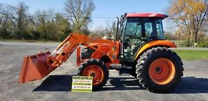 2011 Kubota M7040 Loader Tractor W cab Just Serviced Only 410 Hours Nice