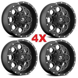 20x10 Black Wheels Rims Fuel Method Xd Grid D525