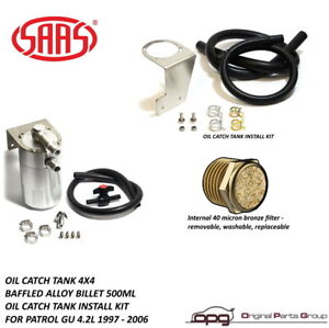 Saas St1015 Oil Separator Catch Can For Nissan Patrol Gu 4 2l Td42t 1997 2006