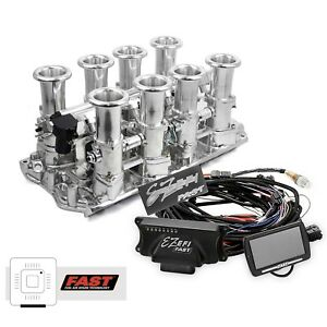 Small Block Ford 351w Polished Downdraft Fast Ez Efi 2 0 Fuel Injection System