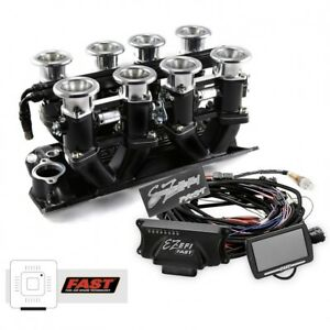 Small Block Chevy 350 Black Downdraft Fast Ez Efi 2 0 Fuel Injection System