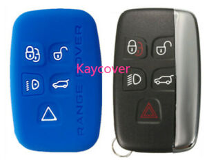 Pink Silicone Car Smart Key Cover Suits Range Rover Land Evoque Sport