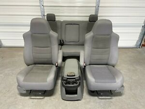 1999 2010 Ford F250 F350 F450 Super Duty Front Rear Seats Gray Cloth