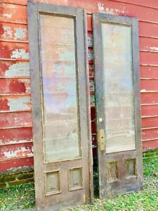 Vintage Double Doors With Glass
