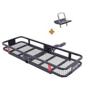 Folding Luggage Basket Cargo Carrier Hauler Hitch Mounted Receiver 500lbs