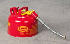 Eagle U2 26 s Red Galvanized Steel Type Ii Gas Safety Can Gas Can