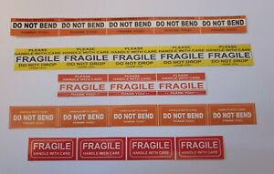 Fragile Sticker 1 45 X 0 62 Fragile Handle With Care Stickers Do Not Bend