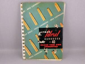 Vintage  Ideal Reloading Ammunition Hand Book #40 1955