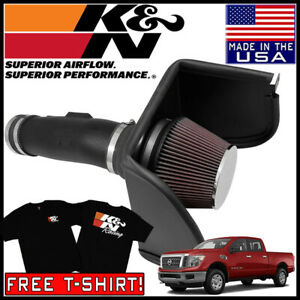 K n Aircharger Fipk Cold Air Intake System Fits 2017 Nissan Titan 5 6l V8