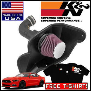 K n Aircharger Cold Air Intake System Kit Fits 2015 2017 Ford Mustang Gt 5 0l V8