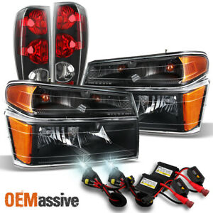 Fit 2004 2012 Chevy Colorado Gmc Canyon Black Headlights Taillights 6k Hid