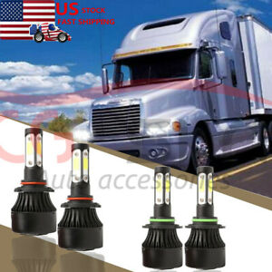 4 Side Led Conversion Bulb Kit For Freightliner Century Headlights Lamp Low High