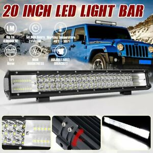 20inch 480w Led Light Bar Spot Flood Combo Off Road Suv Atv Marine Pickup 22
