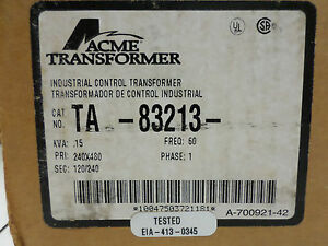 Control Transformer Acme Electric Ta 83213 brand New Old Stock