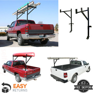 Truck Ladder Rack Single Sided Adjustable Telescoping Support Arms Steel 250 Lb