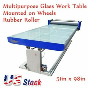 Usa 51 X 98 Flatbed Hot Cold Laminator With Multipurpose Work Table