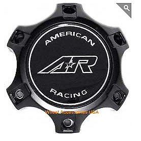 American Racing 890 Center Cap Cara1406sb Blk Mach Fits 6x135 Ford Wheels Only