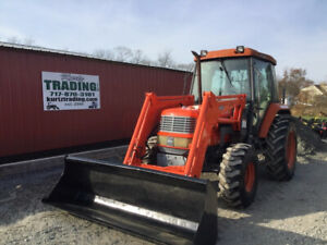 2006 Kioti Dk65 4x4 Diesel Compact Tractor W Cab Loader Only 600 Hours