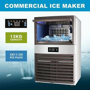 Stainless Steel Commercial Ice Maker Built in Undercounter Freestand 160lb 24hr