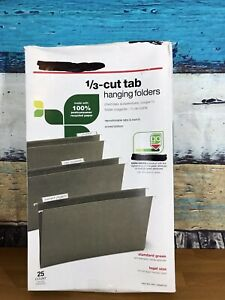 Hanging File Folders Adjustable Tab Letter Standart Size 1 3 Cut Tabs 25 Pack