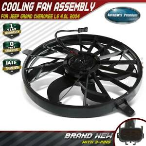 Radiator Fan Assembly W O Controller For Jeep Grand Cherokee L6 4 0l 52079528ad
