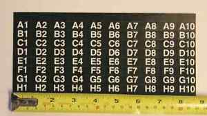 ap Automatic Products Snack Machine Selection Sheet Label 4600 6600 7600 113
