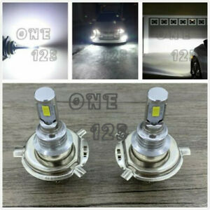 H4 9003 Hb2 6000k White 40w Cree Led Headlights Bulbs Kit High Low Beam Canbus