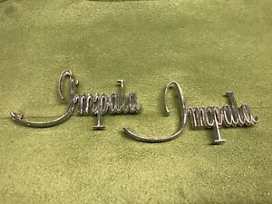 1968 Chevrolet Impala Front Fender Emblems Scripts Badges Gm 3917489