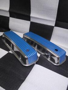 Bbc Chevy Polished Tall Valve Covers Blue Fin Val Cover Cr 225
