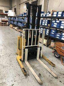 2004 Yale Walk Behind Electric Forklift 3000lb Cap 10 Lift Side Shifter