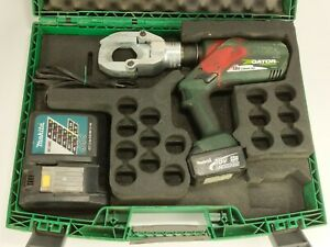 Greenlee Esg50l Gator Battery Operated Cable Cutter 6 2 Ton 1 75 Capacity
