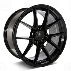 19 Gloss Black Wheels M2 M3 M4 Style Fits Bmw 1 2 3 4 5 And 6 Series