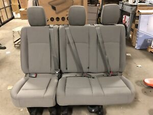 2018 2017 2016 2011 Nissan Nv 3500 2500 2nd Or 3rd Row Bench Seat Grey Cloth