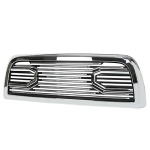 For 10 18 Dodge Ram 2500 3500 Truck Badgeless Big Horn Style Front Grille Chrome
