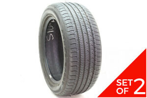 Set Of 2 Used 245 50r18 Goodyear Eagle Sport As 100v 7 5 8 5 32