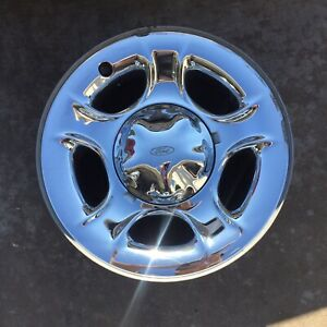 99 03 Wheel Rim Ford F150 Expedition 17 Oem Factory Chrome Clad Steel Oem 3329