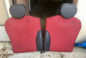2005 2008 Mini Cooper Oem Rear Seats Red And Black Leather