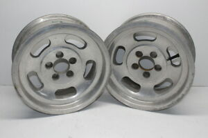 Fenton Mag Aluminum Slotted Wheels 14 X 6 Wide 5 On 4 1 2 Mopar Bolt Pattern