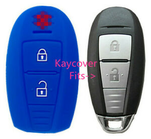 Blue Silicone Car Smart Key Cover Case For Suzuki Swift Kizashi