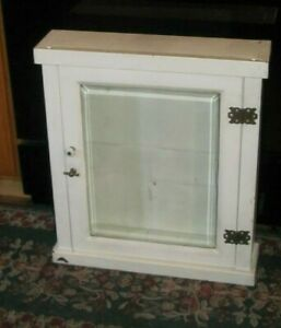 Nice Antique Vintage Dr Or Dental Beveled Glass Door Metal Medicine Cabinet