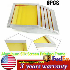 Pre stretched Aluminum Silk Screen Printing Frames 18 X 20 200 Mesh 6 Pack
