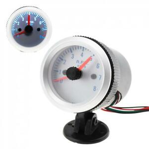 Tachometer Tach Gauge With Holder Cup Led For Auto Car 2 52mm 0 8000rpm Us