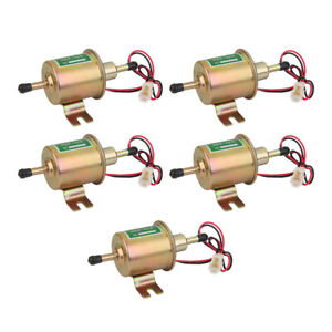 5x Universal 3 6psi Low Pressure Gas Diesel Electric Fuel Pump 12v Cars